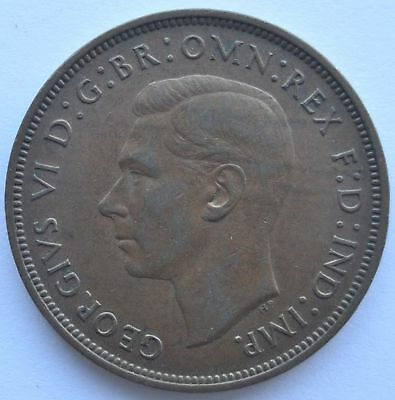 1938 UK Great Britain 1 Penny Coin in VF++