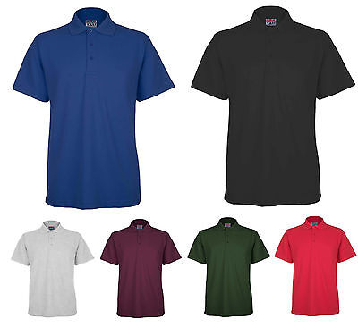 NEW Mens Pique Polo T Shirt Size S to 5XL By BKS - SPORTS WORK LEISURE - 510