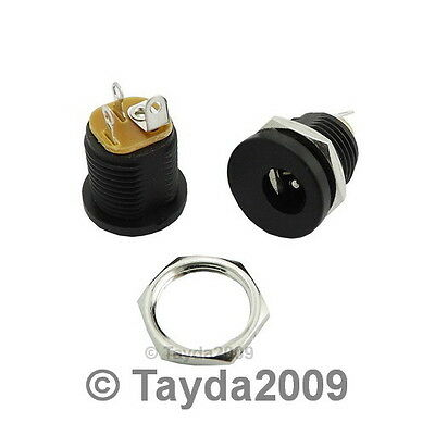 2 x DC Power Jack 2.1mm Enclosed Frame With Switch