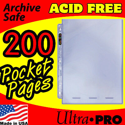1 POCKET 8x10 PHOTO PAGES ULTRA PRO PLATINUM - 200 -