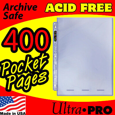 1 POCKET 8x10 PHOTO PAGES ULTRA PRO w/DISPLAY BOXES 400