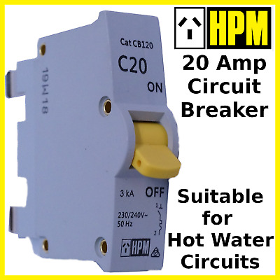 Circuit Breaker 20 Amp HPM Power & Hot Water