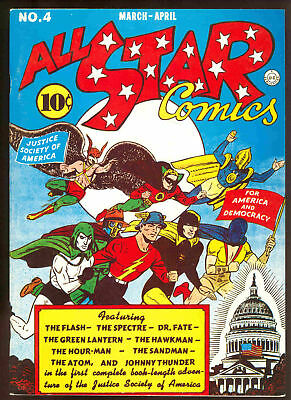 FLASHBACK # 6 All Star Comics # 4  reprint sb