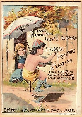 Victorian Trade Card-Hoyt's German Cologne-Lowell, MA-F P Porter-Leominster, MA