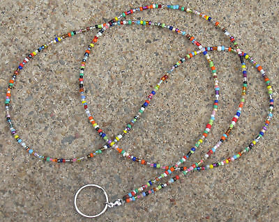 Colorful FUN~FUNKY Beaded ID Badge Holder Lanyard~CHAOS