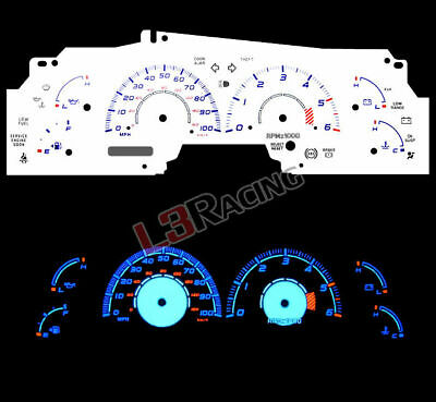 White Face Reverse Indiglo Glow Gauge MPH Kit For 99-03 Ford F-150 Expedition