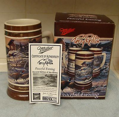 Miller Lite 2007 Holiday Stein By Terry Redlin New!!!