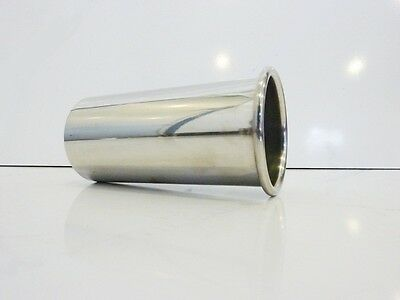 "4"" 101mm Stainless Steel Exhaust Round Tailpipe Trim Rolled Out Tip"