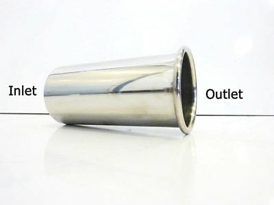 "2.5"" 63mm High Quality Stainless Steel Exhaust Tailpipe Round Trim Rolled Out"