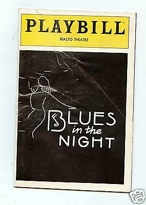 "Vintage Playbill""blues In The Night""leslie Uggams 1982!"