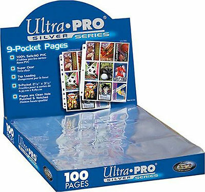 Ultra Pro Silver Series 100/9 Pocket Page Protectors New Free Shipping 81442