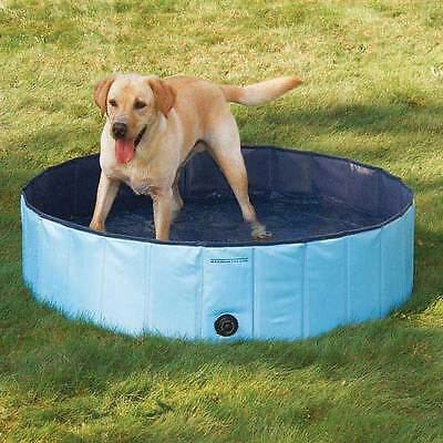 Dog Pool - EXTRA TOUGH BLUE SWIMMING POOL for LARGE DOGS! Canine Splash Relief