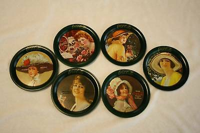 Set of Six Rare Mint Coca-Cola Coasters from 1981 Sealed