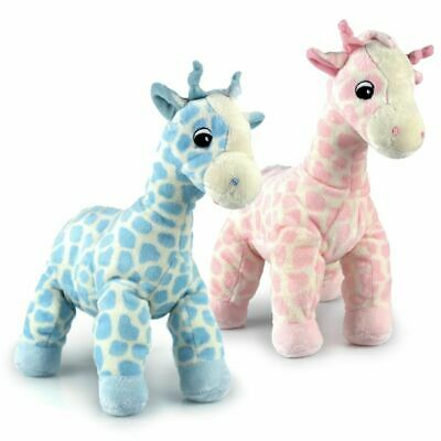 New Korimco Twinkles Large Giraffe Baby Toy 27cm Pink & Blue Available