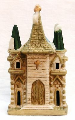 CERAMIC CHRISTMAS VILLAGE HOUSE CHURCH LIGHTED