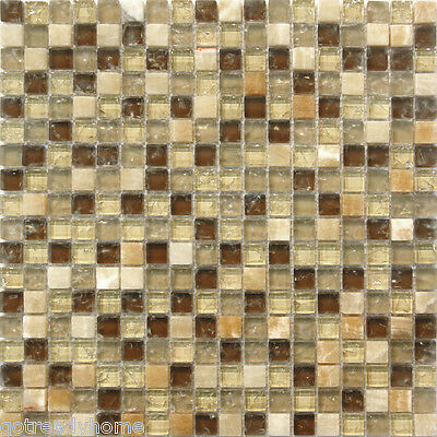 Marble Crackle Glass Mosaic Tile Backsplash Sample      Kitchen Pool Faucet  Spa. Sample Gray Stained Glass Mosaic Tile Kitchen Backsplash Wall