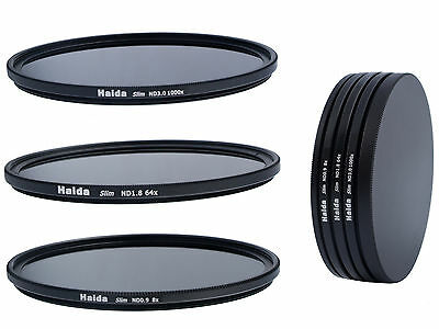 Haida Slim ND Graufilterset ND8x, ND64x, ND1000x -  62mm + Stack Cap