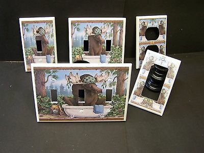 Moose  Bathtub  Bathroom  Light Switch Or Outlet Cover