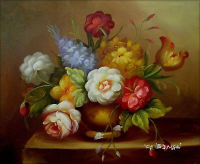 8x10in Quality Hand Painted Oil Painting Still Life Floral Arrangement 17