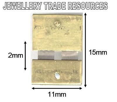 CLOCK SUSPENSION SPRING TOP QUALITY STEEL BRASS 15mm long 11mm wide
