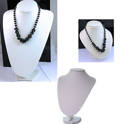 white PU Jewellery Bust Necklace Display Stand
