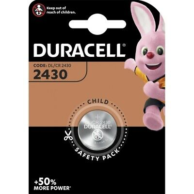 2x CR2430 Lithium Knopfzelle 3V DL2430 DURACELL