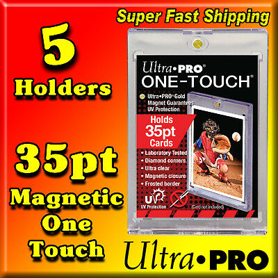 5 Ultra Pro 35 Pt Gold Magnetic One Touch Card Holders 81575-Uv-5