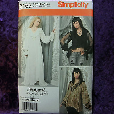 54f10e7cfe 2163 SIMPLICITY SEWING Pattern Misses Costume Haunt Couture Gothic ...