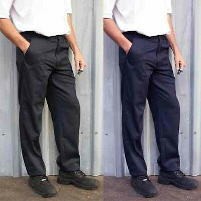 Mens Classic Work Trousers Size 28 to 52 Waist in Black or Navy - 901