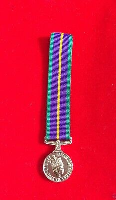 Accumulated Campaign Service  Miniature medal ACSM 1 First Type With Ribbon