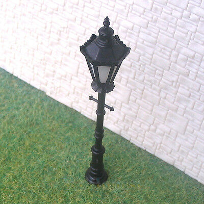 8 pcs O Scale Long Life antique Lampposts LEDs Made #H8