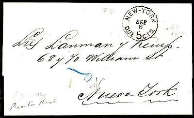 PUERTO RICO 1877 - NEW YORK BRIEF(18433a