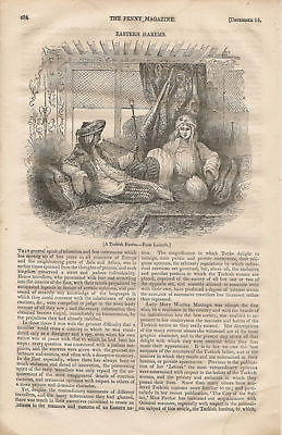 1838 Turkish Harems Women very early article