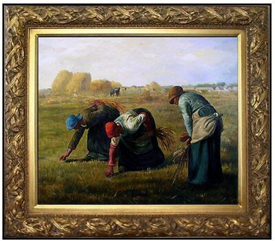 Framed, Quality Oil Painting Repro Millet, Jean-Francois the Gleaners 20x24in