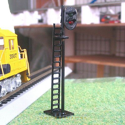 4 pcs OO / HO Scale Railroad LEDs Signals 2 aspects G/R