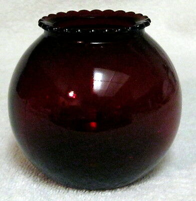 Anchor Hocking Royal Ruby Red Ball Vase