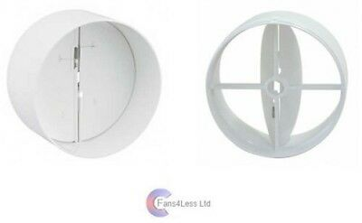 """100mm 4"""" in-line extractor fan vent back draught shutter"""