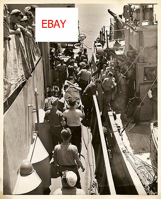 Wwii Uscg 8X10 Original Wounded Sailors Transfered Look
