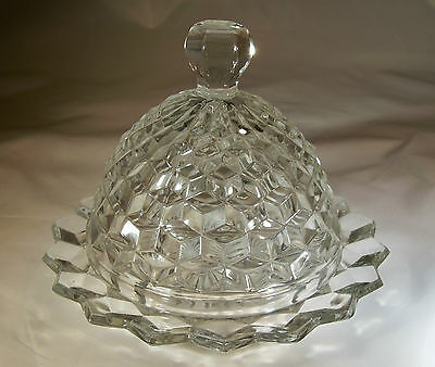 Fostoria American Crystal Domed Butter Dish & Cover!