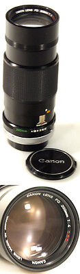 Canon 200Mm F4 Ssc Fd Mount Lens W/ Front & Rear Caps