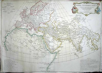 1763 D'Anville Map ANCIENT WORLD As Known to the Romans