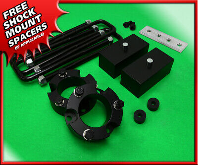 """Fits 95-04 Toyota Tacoma 2WD 4WD Blk Billet 3"""" Front + 2"""" Rear Lift Leveling Kit"""