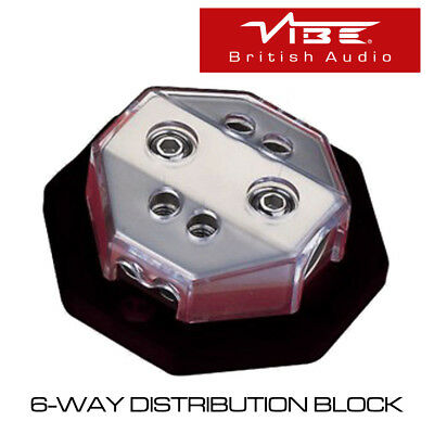 Vibe Db6 - 6-Way Car Audio Distribution Block