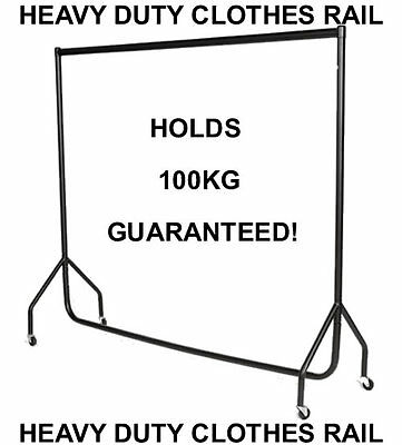 6ft Heavy Duty Garment Clothes Dress Hanging Display Market Rail Steel Rack