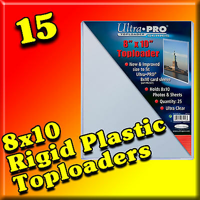 15 8x10 ULTRA PRO RIGID TOPLOADERS PHOTO HOLDER SLEEVES 81146-15