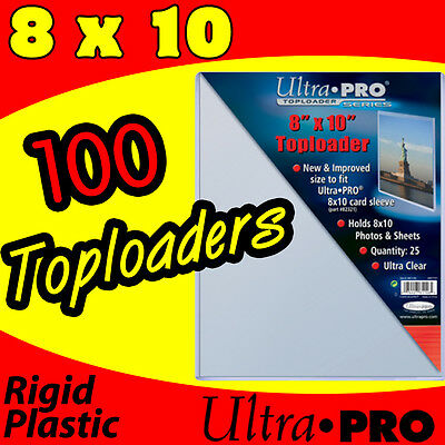 (100) 8x10 HARD PLASTIC TOPLOADERS for PHOTOS & PRINTS 81146-100