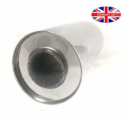 """6"""" Round 3"""" x 18"""" Stainless Steel Exhaust Back Box Stainless Steel"""