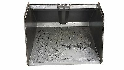 "48"" Snow And Litter Bucket Skidsteer Attachment Free Shipping"