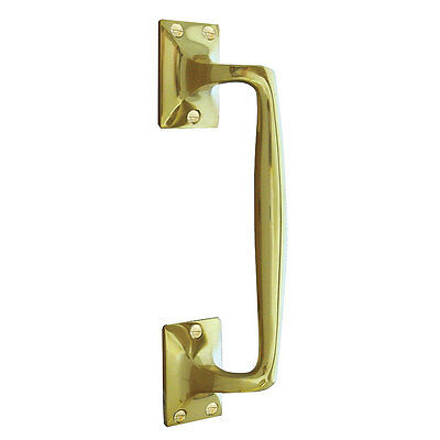 Polished Brass Pull Handle 200mm JV90BPB