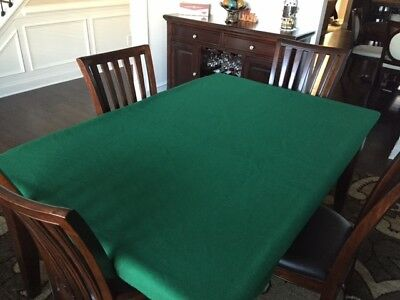 FELT table cover Fits Lifetime Folding Table for poker Any color poly felt - mto